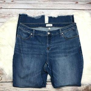 Lila Ryan Raw Hem Straight Leg Jeans 18W